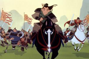 MULAN, Mulan, Khan, 1998. c) Walt Disney Pictures/ Courtesy: Everett Collection.